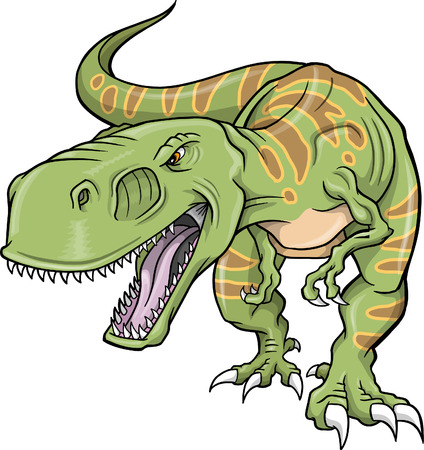 Ilustración vectorial de un dinosaurio de T-Rex
