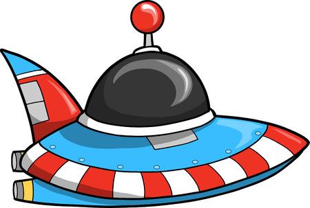 platillo volador: Ilustraci�n vectorial de Flying Saucer