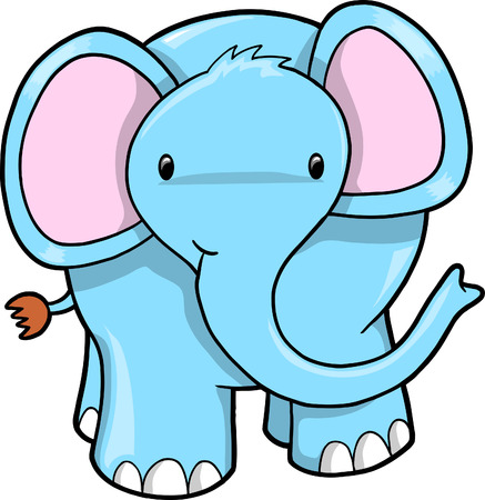 Blue Elephant vector Vector