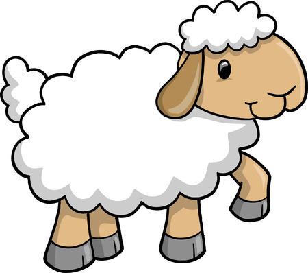 Ilustración de vector de cordero de ovejas Ilustración de vector