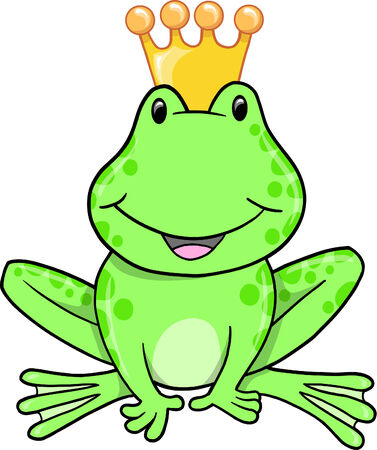 Frog Prince Vector Illustration Stock Vector - 6541990