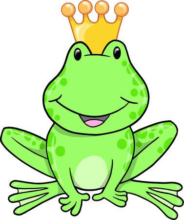 Frog Prince Vector Illustration Stock Vector - 6541990