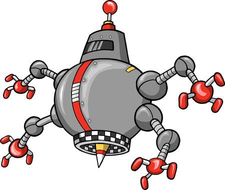 Robot vectorillustratie