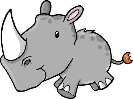 Rhino Vector Illustration Vector
