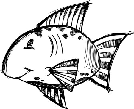 Doodle Sketchy fish Vector Illustration Stock Vector - 6541998