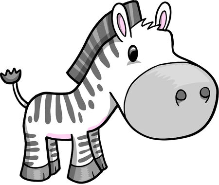 ZEBRA Vector Illustration  Banque d'images - 6541977