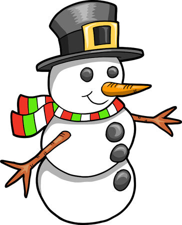 Christmas Holiday Snowman Vector Illustration Stock Vector - 6541984