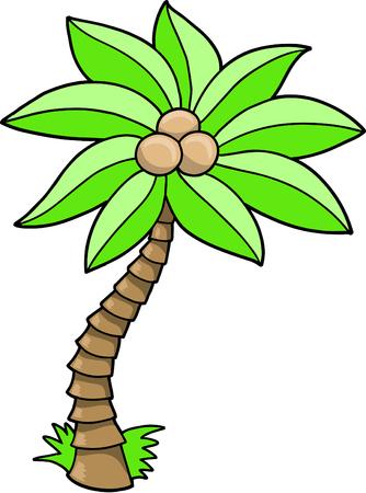 Palm Tree-Vektor-Illustration Standard-Bild - 6541985