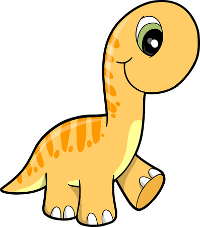 extinction: Cute Dinosaur Vector Illustration