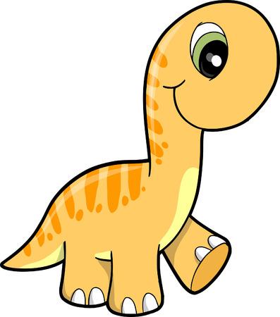 Schattige dinosaurus vector illustratie
