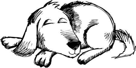 Doodle Sketchy Dog Vector Illustration