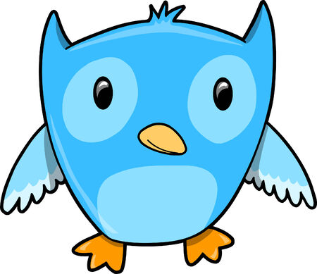 owl illustration:  Blue Owl Vector Illustration