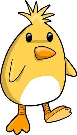 chick: Baby Chick Vector Illustration Illustration