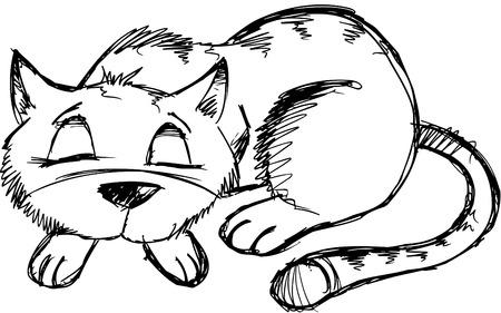 Doodle Sketchy Cat Vector Illustration Stock Vector - 6542176