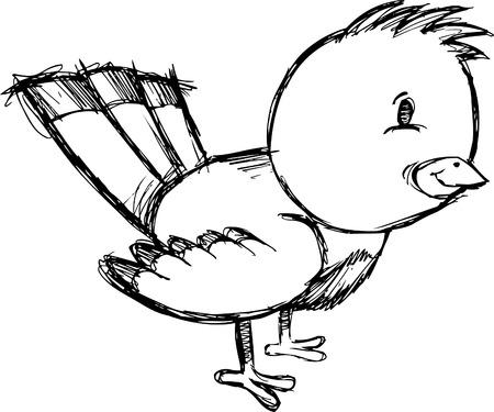 Doodle  Sketchy Bird Vector Illustration Stock Vector - 6541820