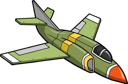 Jet Fighter Vector Illustration Ilustrace