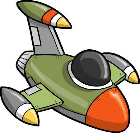 Jet Fighter Vector Illustration 向量圖像