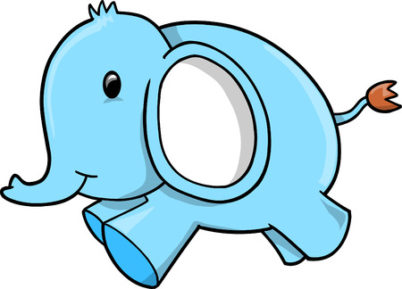 Blue Elephant vector Stock Vector - 6542021