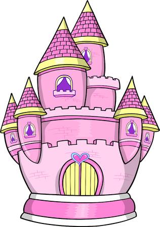 Pink Princess kasteel vector illustratie