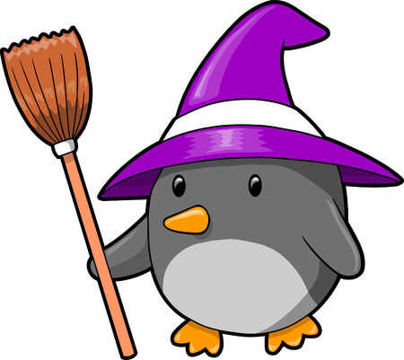 Halloween Penguin Vector Illustration Stock Vector - 6574505
