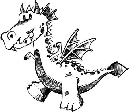 Sketchy Dragon  Illustration