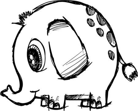 Sketchy Elephant  Stock Illustratie