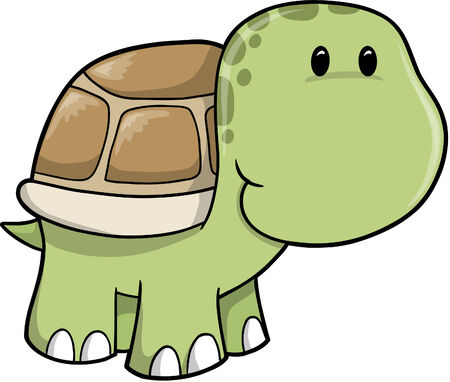 Cute Safari turtle  Illustration Çizim