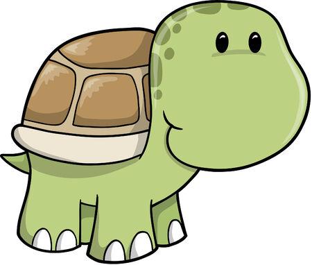 turtle isolated: Tortuga de Safari bonita ilustraci�n