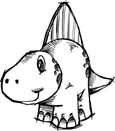 스케치 공룡 일러스트 일러스트