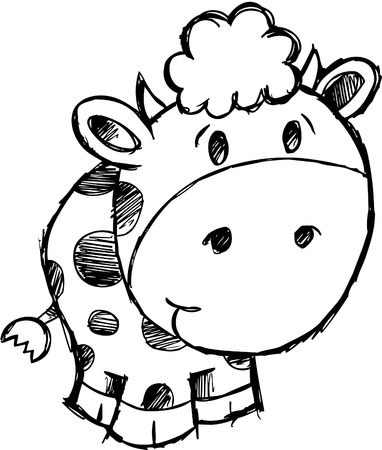 Sketchy Cow  Illustration Stock Vector - 6754533