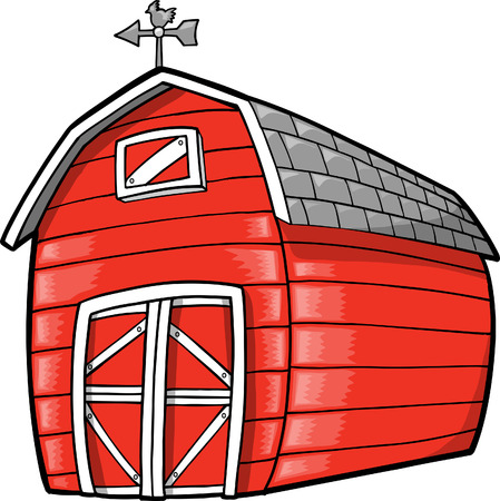 red barn: Barn Illustration