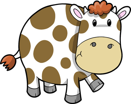 Cute Cow  Illustration Çizim
