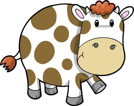 Illustration de vache cute  Banque d'images - 6754540