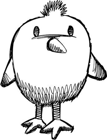 chick: Sketchy Chick  Illustration