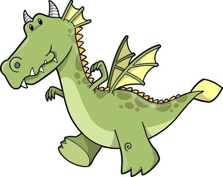 Cute Dragon Illustration Stock Vector - 6754566