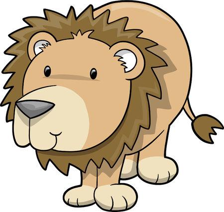 Safari Lion  Illustration Vector