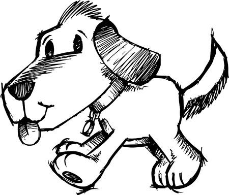 with illustration: Sketchy Dog  Illustration