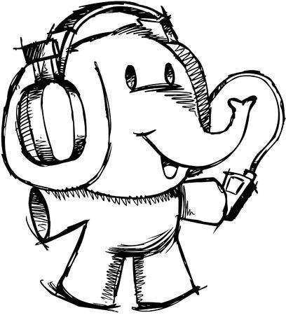 Elephant sommaires  Banque d'images - 6766995
