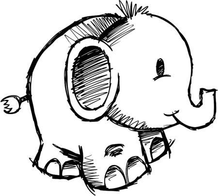 Elephant sommaires  Banque d'images - 6766987