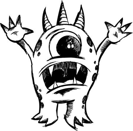 sketchy: Sketchy Monster Devil  Illustration