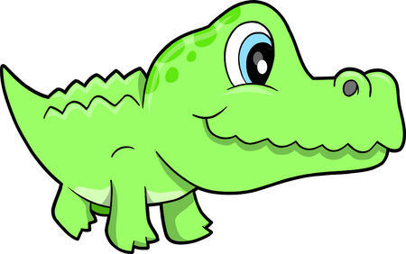 Cute Alligator  Illustration
