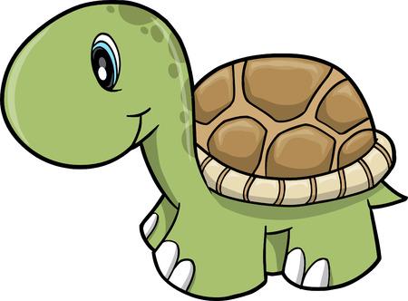 green turtle:  Carino Safari tartaruga  Vettoriali