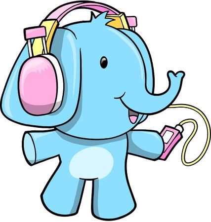 earphone: Elephant