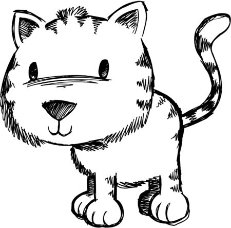 Doodle Sketchy Cat Stock Vector - 6774922