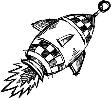 Doodle schetsmatig Rocket