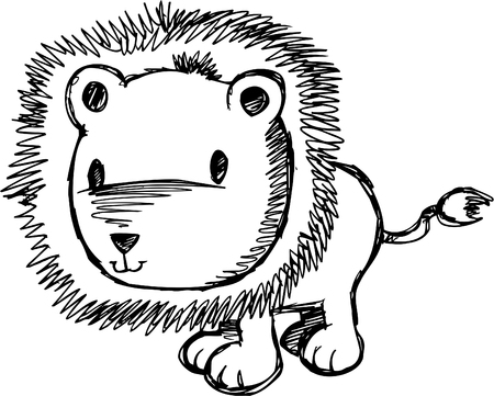 Doodle Sketchy Lion Stock Vector - 6774919