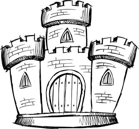 Doodle Sketchy Castle