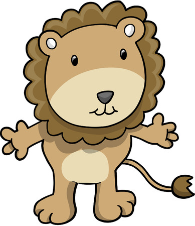 plains: Cute Safari Lion