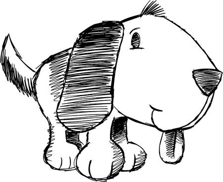 dog kennel: Doodle Sketchy Dog  Illustration Illustration