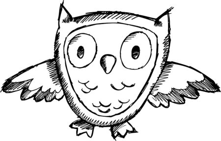 owl illustration: Doodle sketchy Owl  Illustration